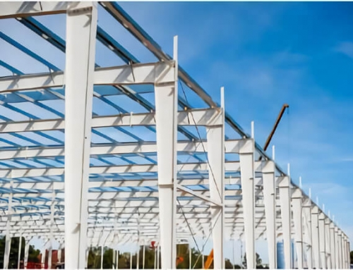 Steel Structure Construction In Rain Season