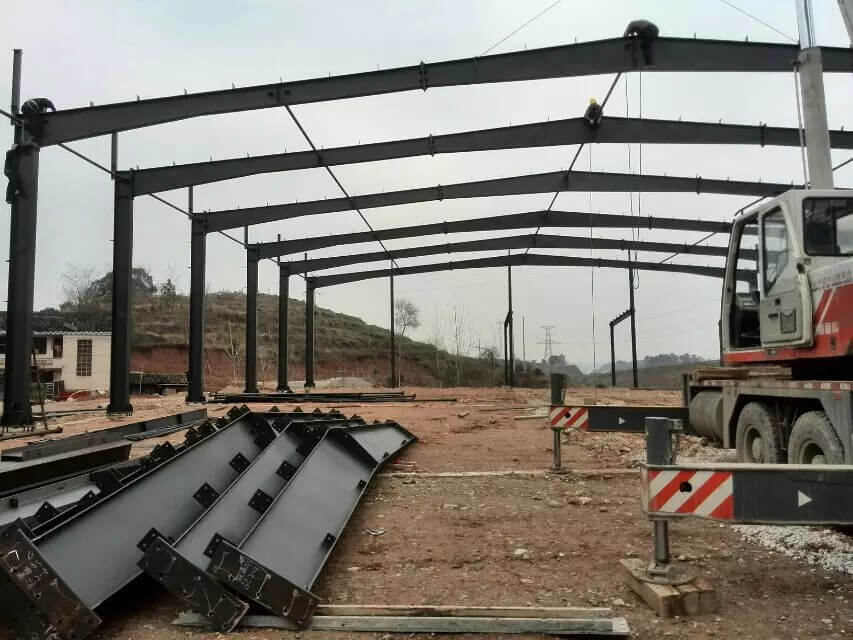 steel workshop building installation